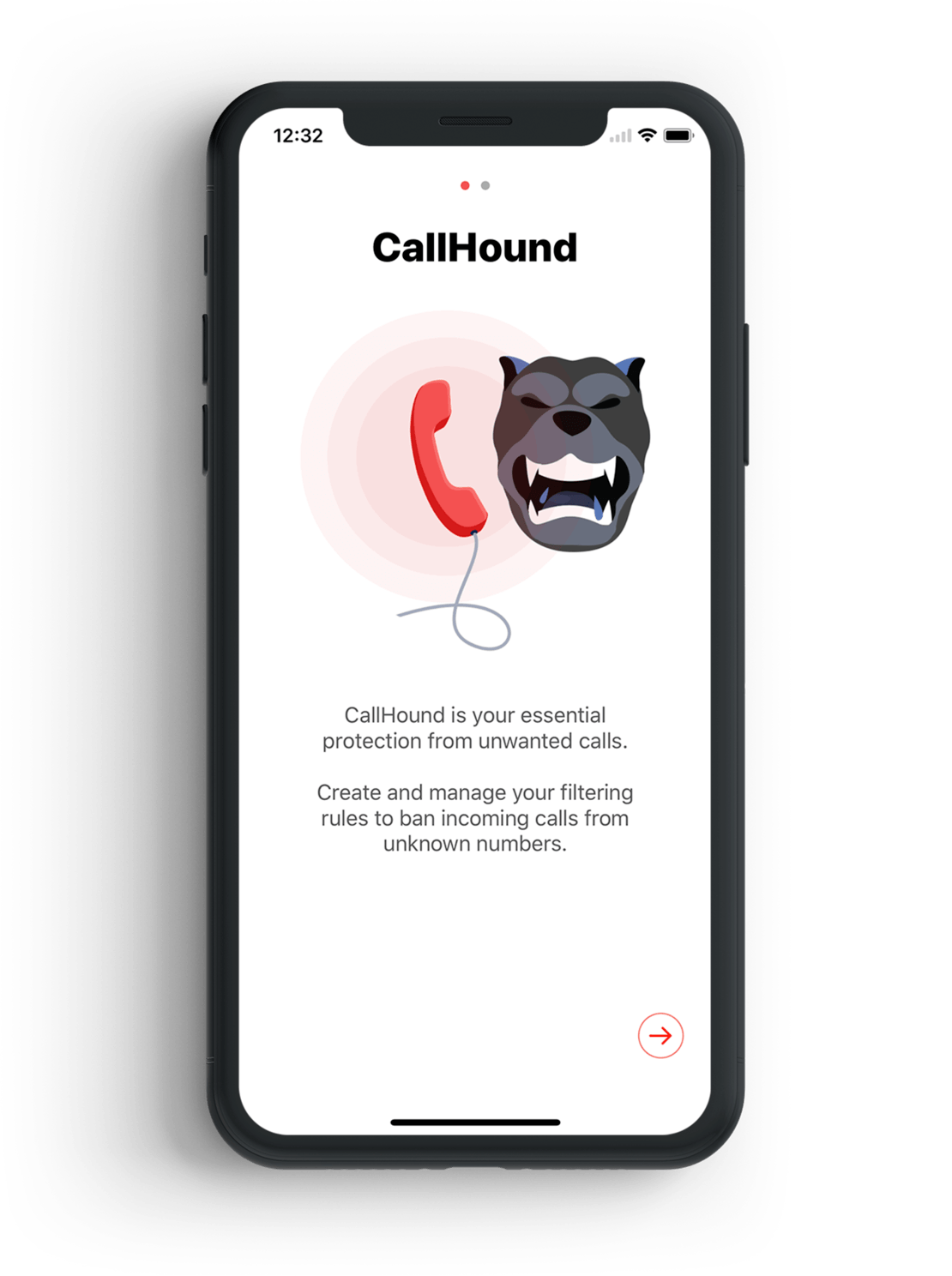 Spam filter CallHound for iPhone